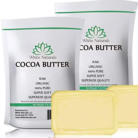 Cocoa Butter 2 lb in 1 lb bags 100 Natural, Unrefined, Pure, Raw, Excellent For Skin Care Cooking DIY Recipes. 2 lb