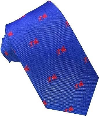 JOSVIL Corbata Seda Azul Toro y Torero. Corbata de seda para ...