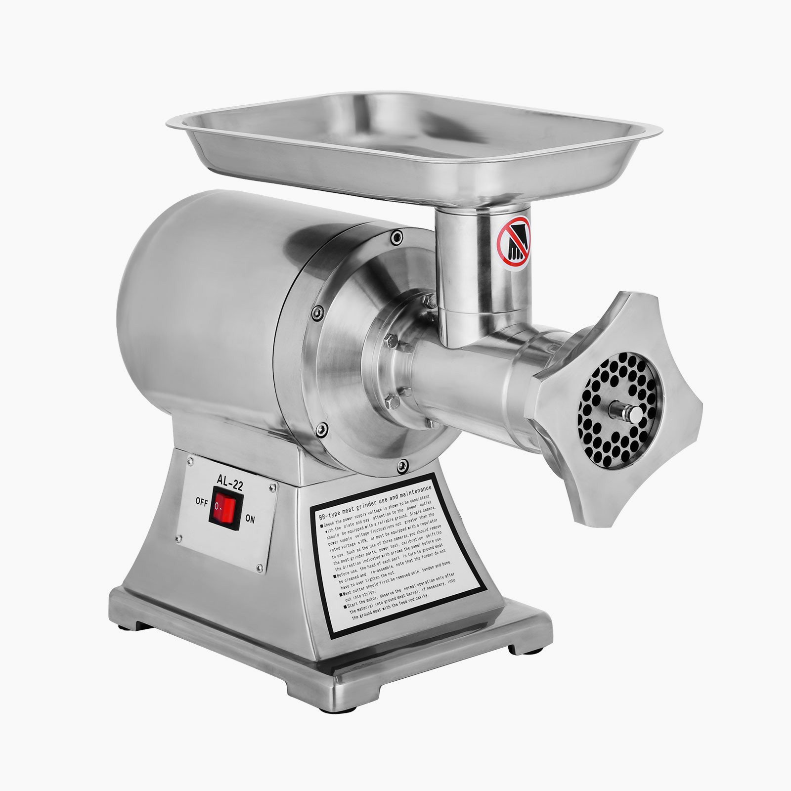 Forkwin Meat Grinder 750W Meat Mincer 550LBS/H Meat Mincer Grinder 193/125 RPM Meat Mincer Electric for Home Use