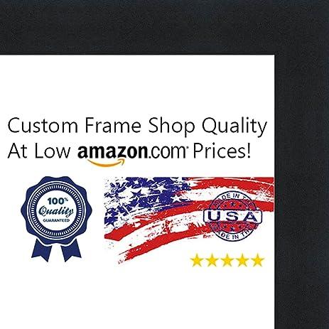 Amazon.com - 28x36 Contemporary Black Wood Picture Frame - UV ...