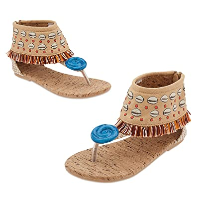 Disney Moana Costume Shoes for Kids Size 2/3 YTH: Toys & Games