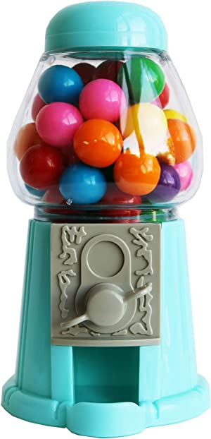 ModParty Blue Gumball Machine Kids Party Favors, Set of 6, Bubble Gum Mini Candy Dispenser (GUMBALLS NOT INCLUDED)