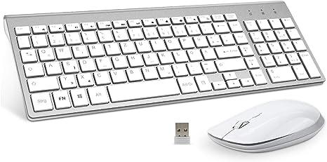 FENIFOX Pack de teclado y ratón Inalámbrico on batería de mayor ...