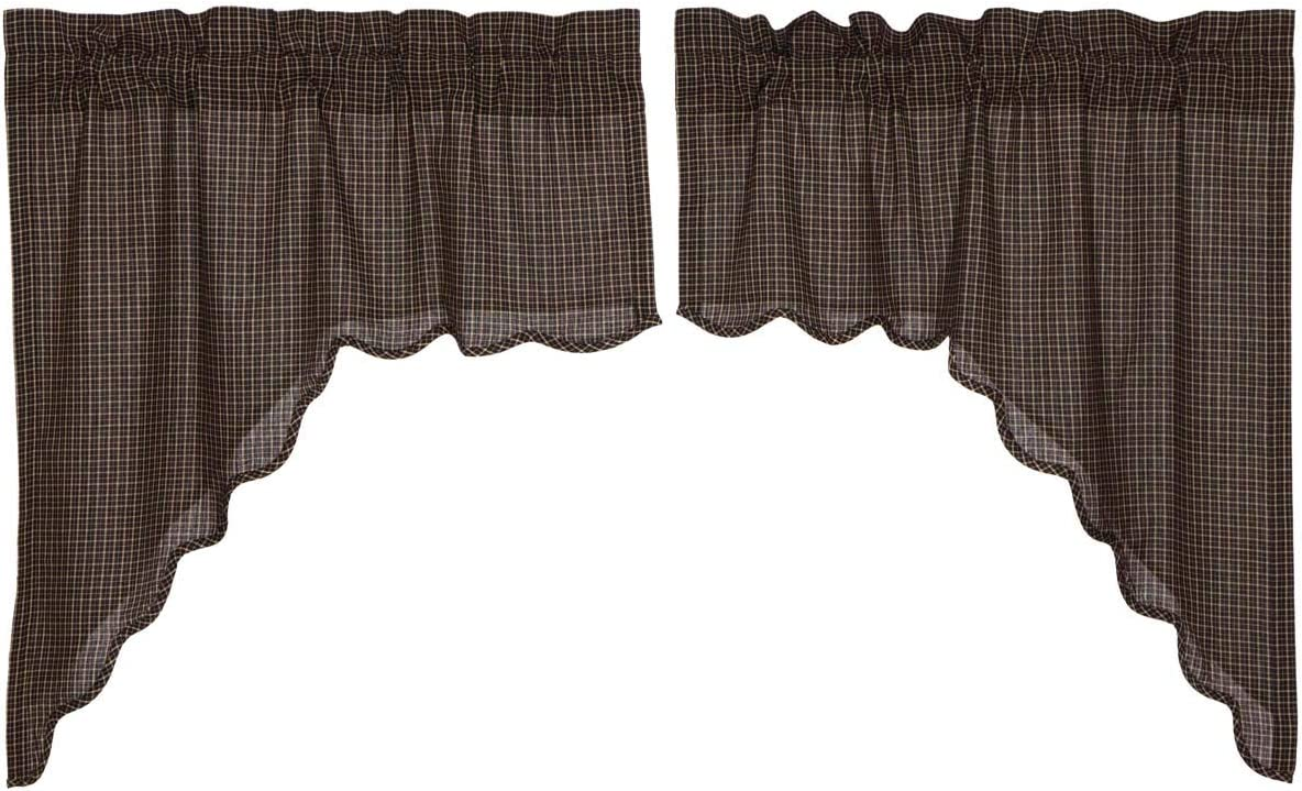 PONY DANCE Window Curtain Tiers – 42 by 24 inches, Biscotti Beige, Set of 2 Home Decor Window Treatments Valances Room Darkening Short Panels for Nursery Cafe