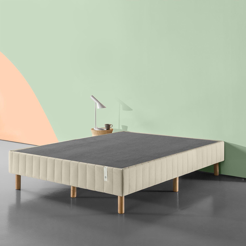 Zinus FRBX-9BG-TXL Justina Quick Snap Standing Mattress Foundation/Platform Bed/No Box Spring Needed/Beige, Twin XL