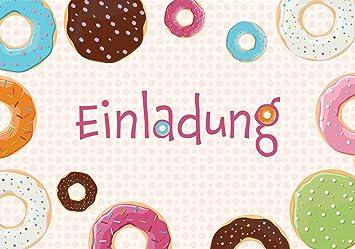 14 Einladungskarten Zum Kindergeburtstag Donut Mit Gratis EBook Die 20  Besten Spiele Zum Kindergeburtstag Geburtstagseinladungen Einladungen