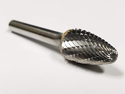 uxcell Tungsten Carbide Double Cut Rotary Burrs File Cylinder Shape with 1//8 Inch Shank and 1//8 Inch Head Size