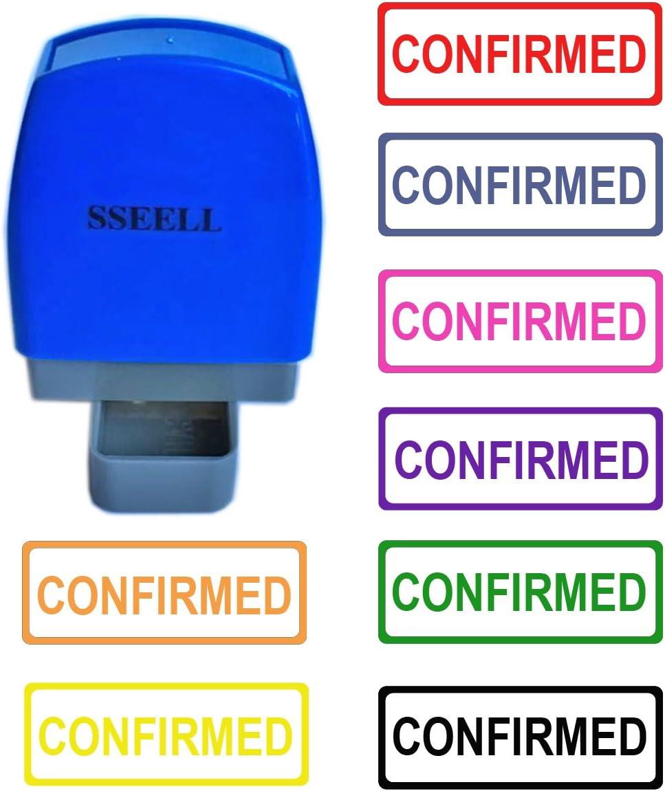 Sseell contanti self inchiostrazione gomma flash timbro autoinchiostrante pre-inchiostrato re-inkable ufficio lavoro Company scuola con telaio linea molti colori Avaiable Black Ink