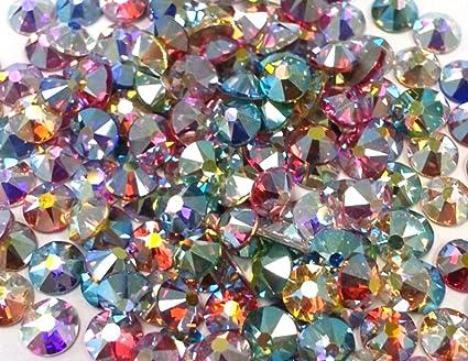 7587a62e7bd Amazon.com: 144 SWAROVSKI Crystal Rhinestones FlatBack AB Only MIX 12ss
