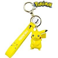 Pokemon Keychain-Pikachu Keychain Accessories for Women Silicone 1 Set Cute Kawaii Gift for Girls