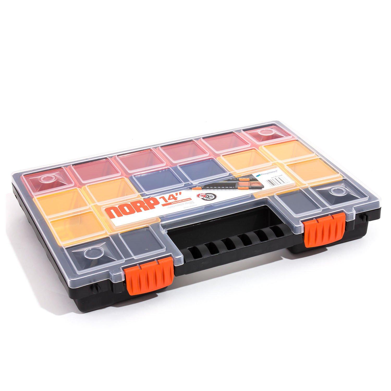 Prosperplast NORP Family NORP14 11 F/ächer Turbo Sortimentskasten Kleinteilmagzine Boxen herausnehmbar 345 x 250