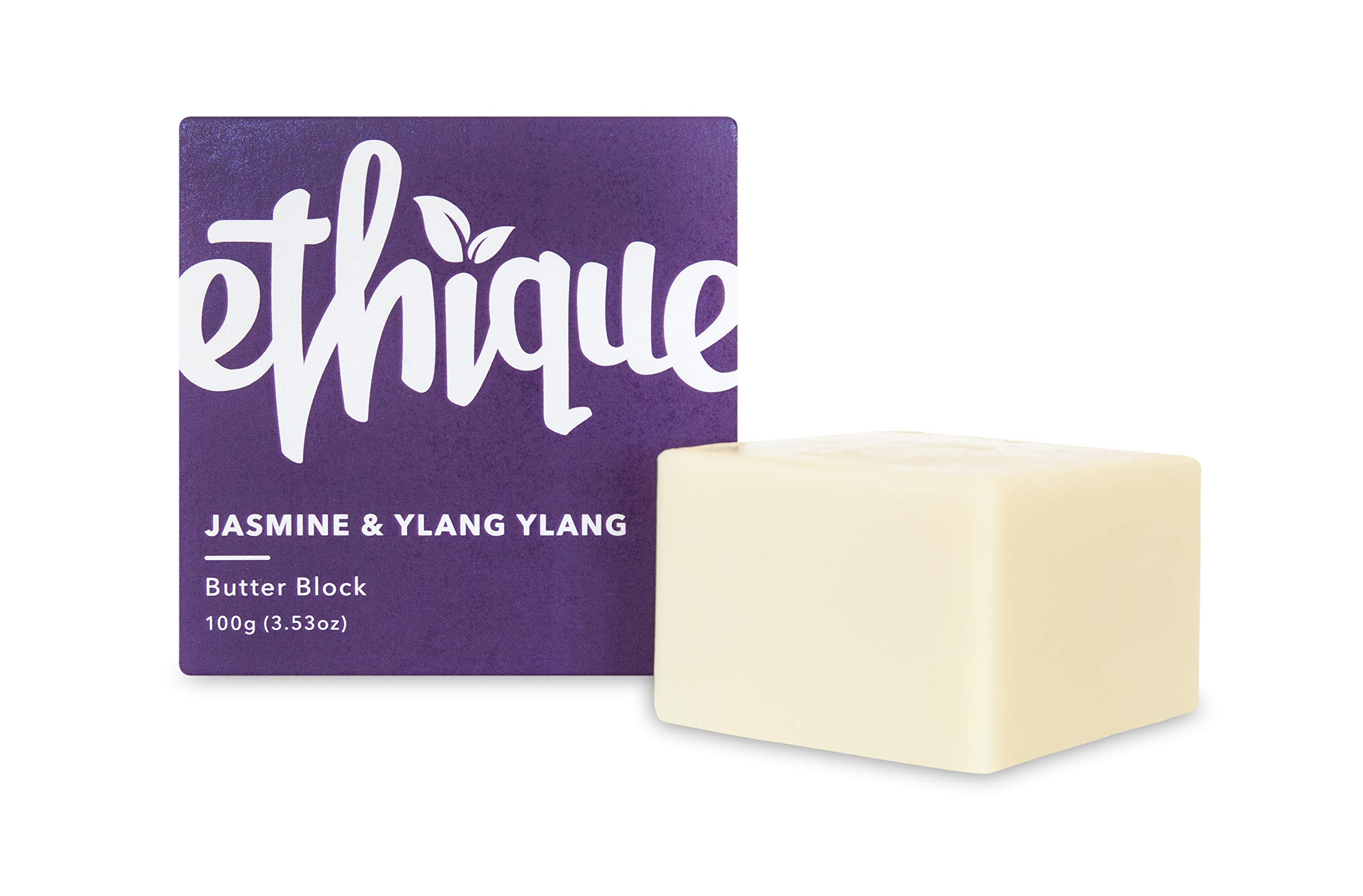Ethique Eco-Friendly Butter Block, Jasmine & Ylang Ylang 3.53 oz by Ethique