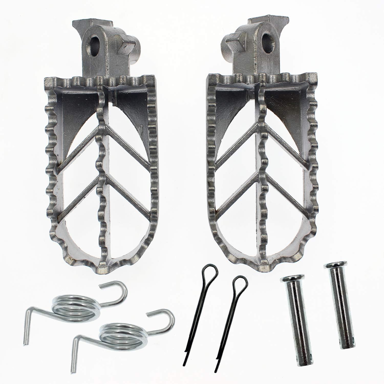 2X Aluminum Foot Peg Footrest Pedal for 50cc 125cc 150cc 4 Strokes Pit Dirt Bike