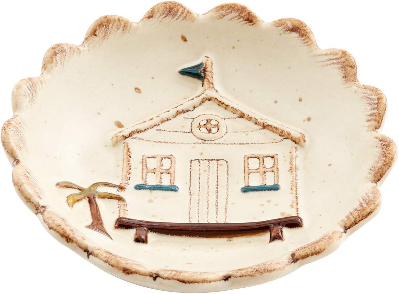 White Mud Pie Sea Dipping Dish 4 dia
