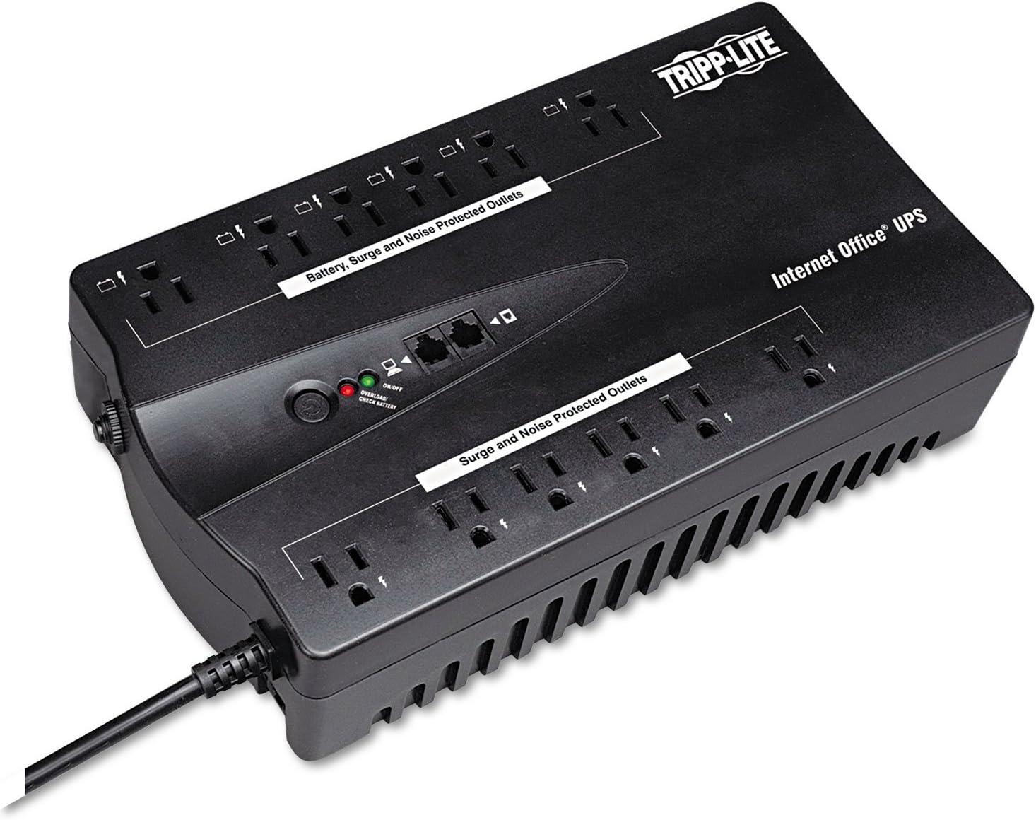 Tripp Lite UPS 900VA 480W Desktop Battery Back Up Compact 120V USB RJ11 PC