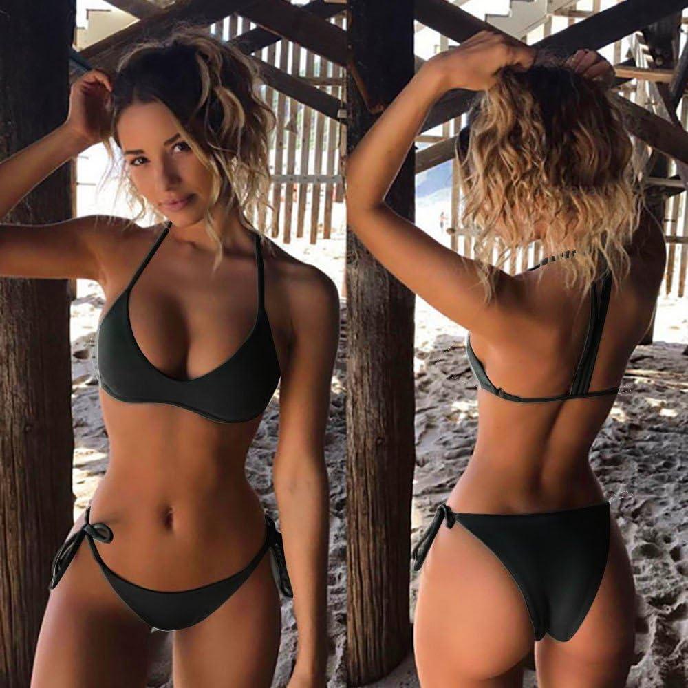 Fait /à la Main Tricot/é Bikini Ensemble Coquillage Push Up Rembourr/é Soutien-Gorge Tops Haut Short Mode Plage Natation V/êtements Sunenjoy Maillot de Bain 2 Pieces Femme Boh/ême