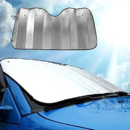 Amazon.com  Transer Foldable Windshield Visor Sun Shade Sunshade Cover Car  Front Window Snow and Ice Protector with Magnetic Suctions (silver)   Automotive 995557ab9de