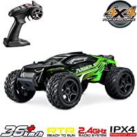 Hosim 1:16 Scale 2.4Ghz Radio Controlled RC Truck G172, High Speed 4WD Racing Vehicle 36km/h Off-Road Remote Control RC Car Electronic Monster Hobby Truck for Kids Adults Birthday Gifts - Green