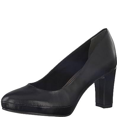 Tamaris Damen Pumps schwarz Leder von Größe 36 bis 41