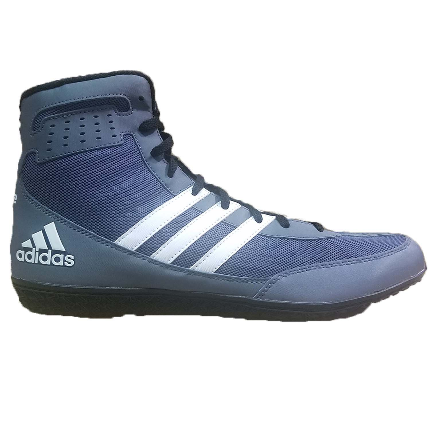 adidas Mat Wizard Dt Grey/Black/White Wrestling Shoes 8 by adidas