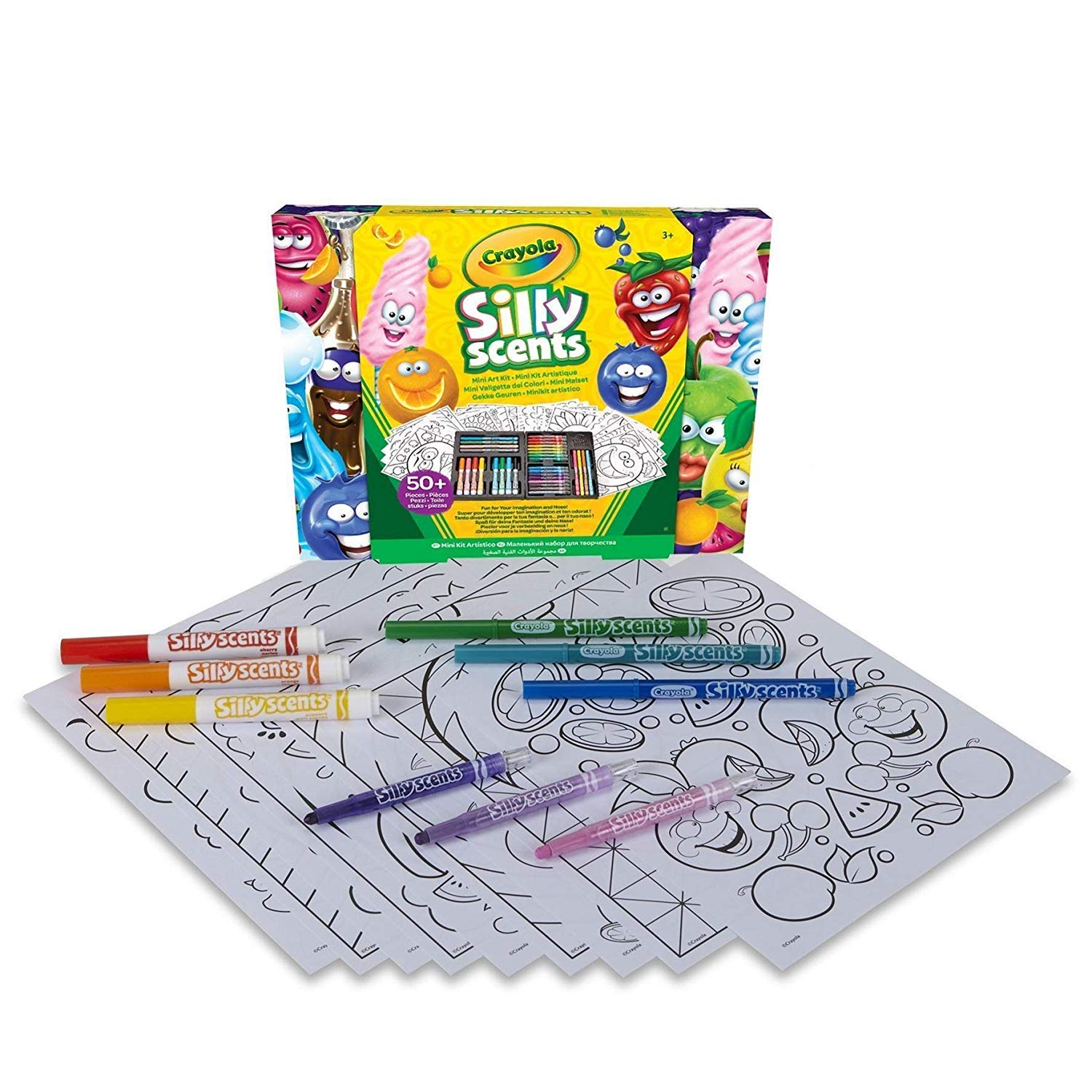 Animal Coloring Book 96 Pages and 75 Stickers Crayola 8 Slim and 8 Broad Line Washable Scented Markers Scented Mini Inspirational Art Case Set 20 Coloring Pages 16 Mini Twistables Crayons