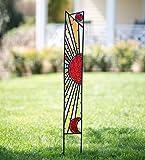 Glass and Metal Sun Garden Stake