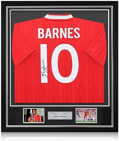 John Barnes Liverpool firmada 1987-1988 camisa casera: Número ...