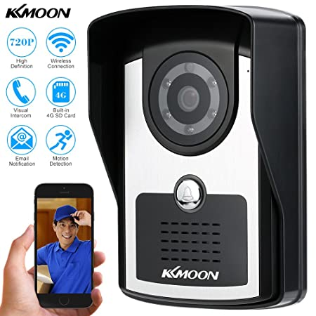 Kkmoon Wireless Video Door Phone Indoor Monitor Clear Night Vision