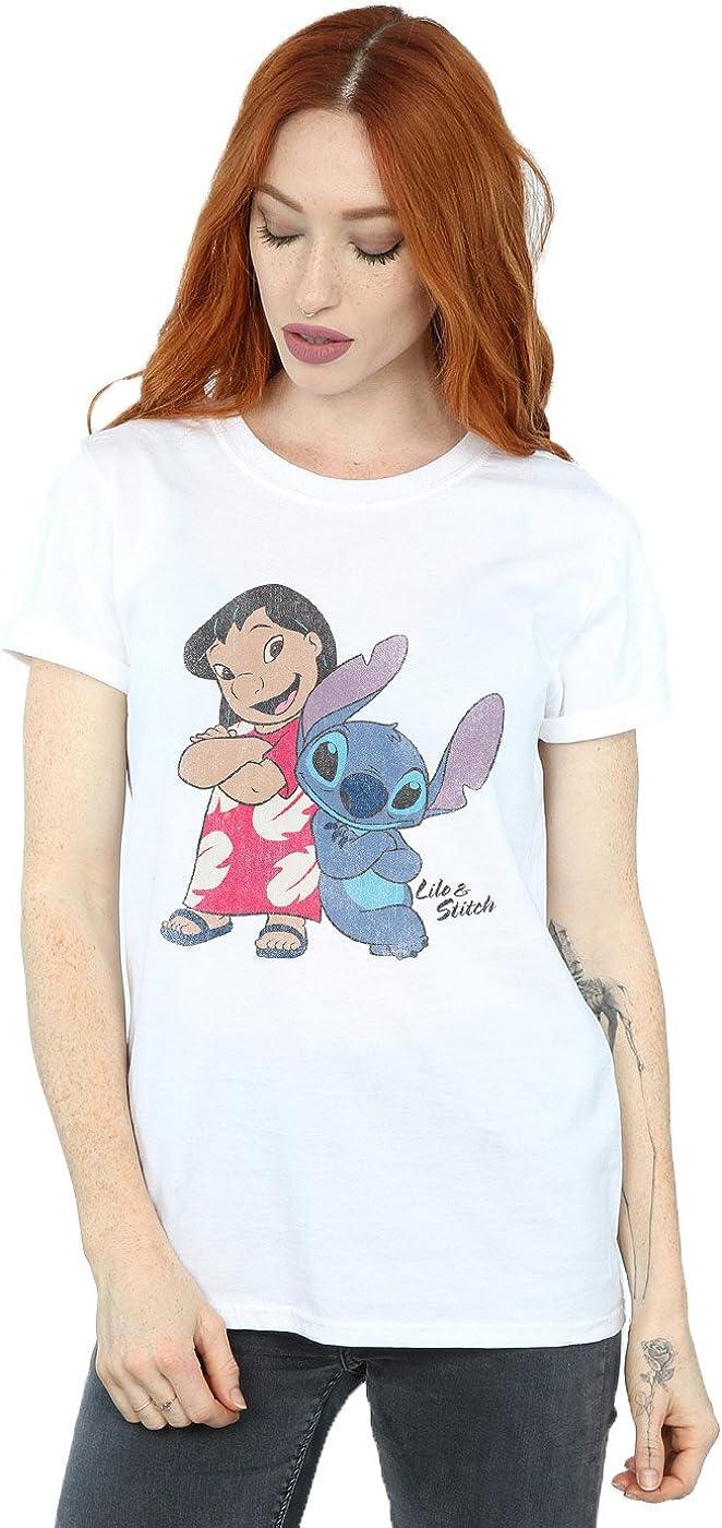 TALLA L. Disney mujer Lilo & Stitch Classic Lilo & Stitch Camiseta Del Novio Fit