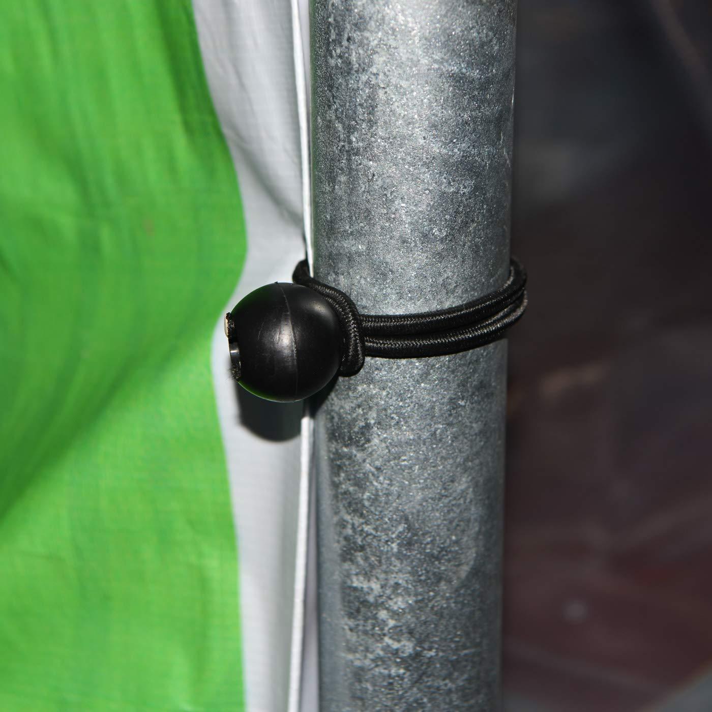 12 Piezas Toldos Abrazaderas Pl/ástico Pinza de Cocodrilo para Cortinas GTIWUNG 12 Piezas Bolas El/ásticas Cordones El/ásticas 22cm Sacos de Dormir Pancartas Tiendas etc.