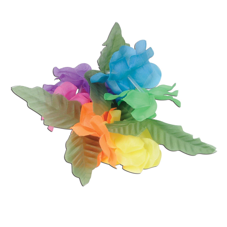 10-Inch Beistle 57416 12-Pack Silk N Petals Big Island Wristlet//Anklet