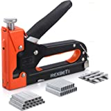 REXBETI Staple Gun, Heavy Duty 3 in 1 Staple Gun with 2600-Piece Staples for Upholstery, Fixing Material, Decoration, Carpent