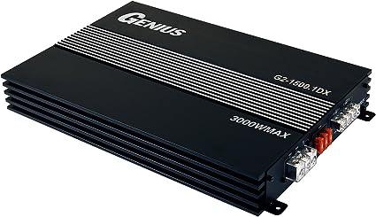 Genius GTM-1000.1D 2000 Watts-MAX Compact Car Full Range Amplifier Monoblock Class-D 1-Ohm Stable