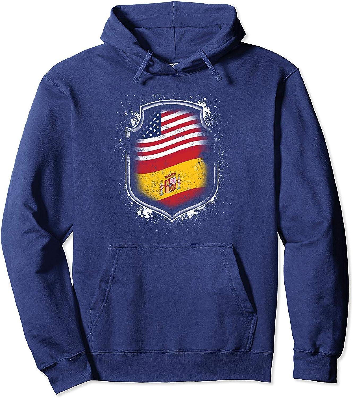 N/A Camisa con Capucha Hispanoamericanas Banderas de España y ...
