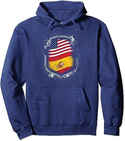 N/A Camisa con Capucha Hispanoamericanas Banderas de España y América: Amazon.es: Ropa y accesorios