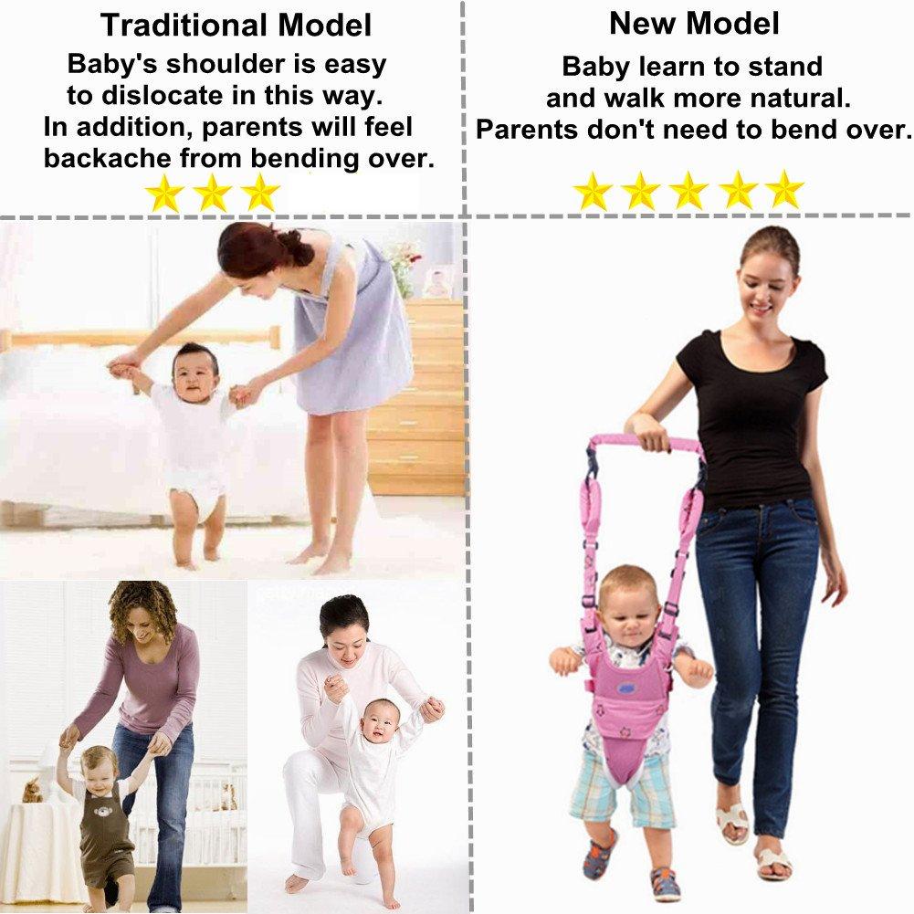 Andador Toddler Walking Assistant, Autbye De pie y caminando Aprendizaje Ayudante Para bebé, 4 en 1 funcional Arnés para caminar de seguridad Walker ...
