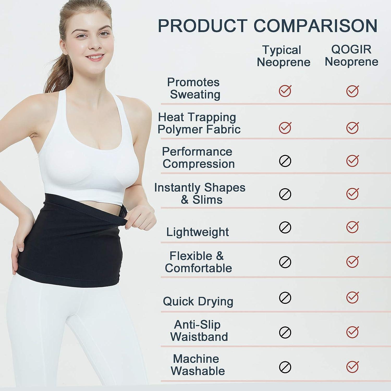 LUCKY CLOVER Waist Trimmer for Women: Sauna Sweat Belt Neoprene-Free Waist Cincher: Clothing