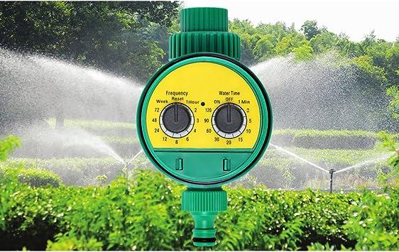 Temporizador de riego automatico, Control automático de riego Jardín al aire libre Jardín Agricultura, dos esfera (verde): Amazon.es: Bricolaje y herramientas