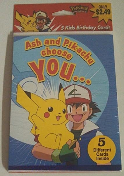 Pokemon Birthday Cards Package Of 5