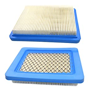 HQRP 2-Pack Air Filter for Craftsman 33644/3364 Replacement fits Craftsman Lawn Mower Yard Vacuum Tiller with Briggs&Stratton 6.5, 7.75 & 7 HP Engines Plus Coaster