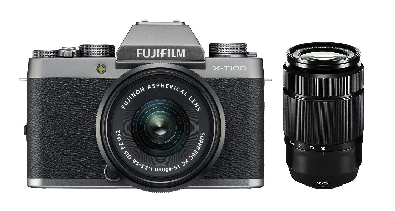 Fujifilm X T100 + XC 15-45mm F/3.5-5.6 OIS PZ MILC 24,2 MP CMOS 6000 x 4000 Pixeles Plata - Cámara Digital (24,2 MP, 6000 x 4000 Pixeles, CMOS, 4K Ultra HD, Pantalla táctil, Plata)
