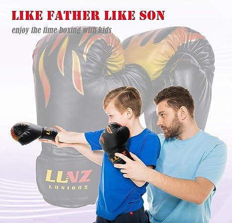 Guantes de boxeo para niños con cierre de velcro, tamaño pequeño ...