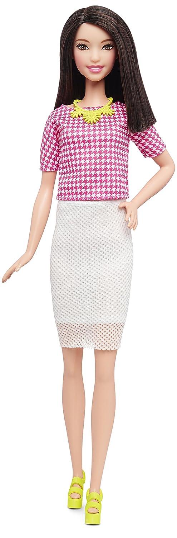 Barbie Fashionistas - Muñeca, chispa blanca y rosa (Mattel DMF32): Amazon.es: Juguetes y juegos