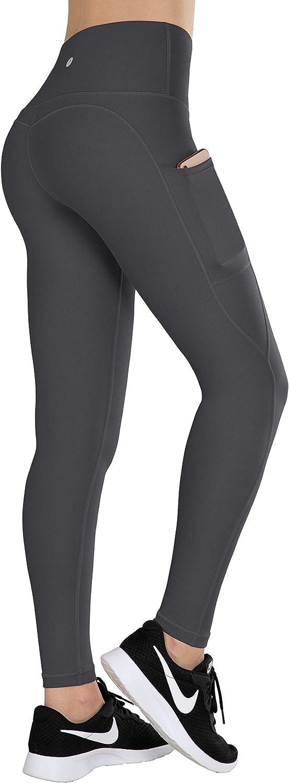 ESPIDOO Yoga Pants for Women, High Waist Tummy Control, 4 Way Stretch Sports Leggings with Pockets