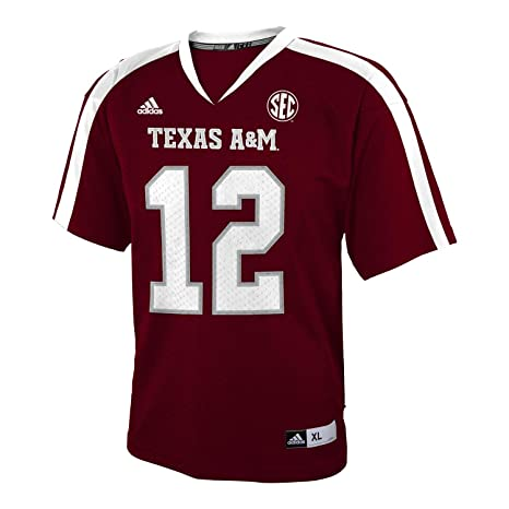 sports shoes 4a7ff 88c05 Texas Aggies Youth #12 Football Jersey by Adidas