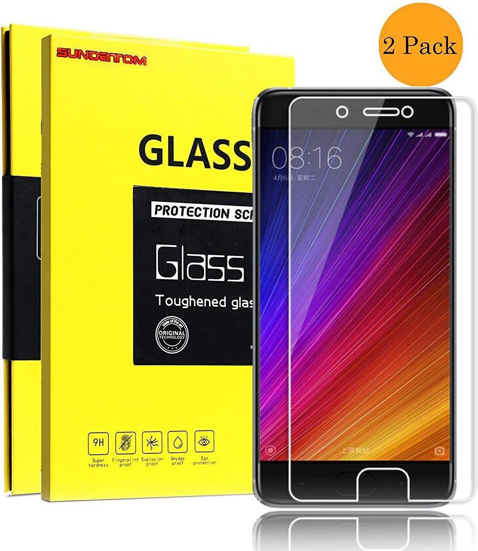 Xiaomi MI 5S Plus Protector de Pantalla Cristal, SUNDATOM® Film ...