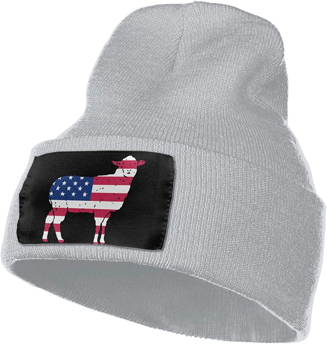 Patriotic Sheep with The US Flag Men Women Knitting Hats Stretchy /& Soft Skull Cap Beanie