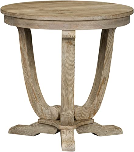 Liberty Furniture Industries Greystone Mill End Table, 24 x 24 x 24 , Light Gray