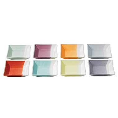 Royal Doulton 1815 Square Trays, 4.7-Inch, Set of 8
