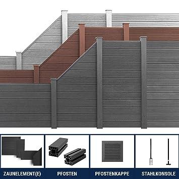 Berühmt HORI® WPC Garten Zaun I Lamellenzaun, Sichtschutz Komplettset I CF37